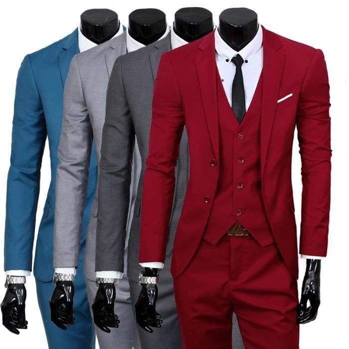 Costume homme mariage rouge - Achat   Vente pas cher b8f251cfeac