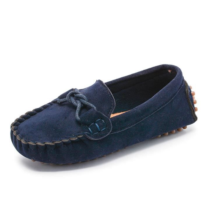 Garçons Filles TODDLES Confort Mocassins à Enfiler Chaussures De Loisirs Chaussures De Marche