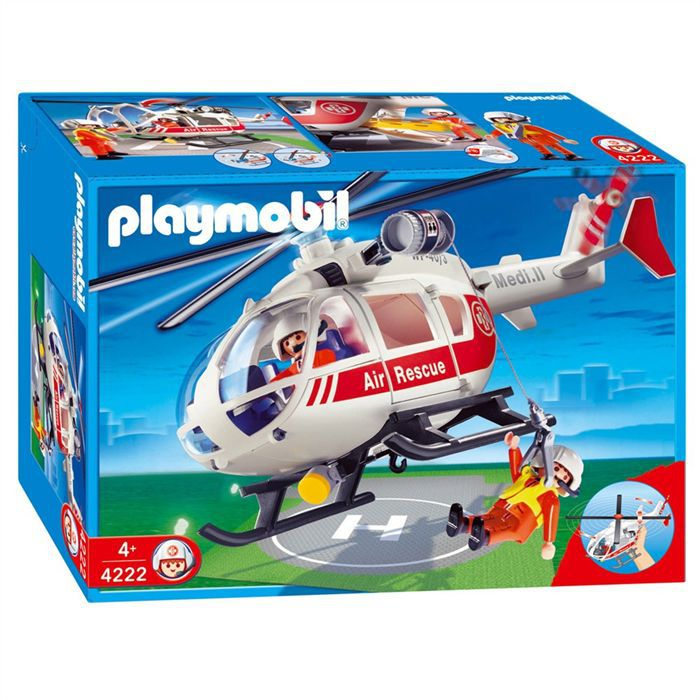 Playmobil sauveteur h licopt re achat vente univers for Helicoptero playmobil
