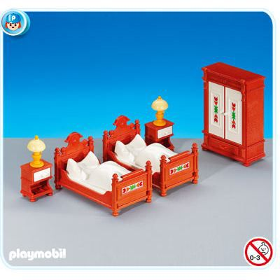 Playmobil 6222 meubles anciens pour chambre achat for Meuble playmobil