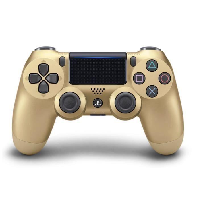 MANETTE JEUX VIDÉO Manette PS4 DualShock 4 Gold V2+2 Boutons Thumbsti