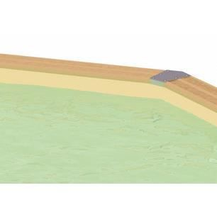 Liner beige sable pour piscine allong e ubbink achat for Liner sable piscine