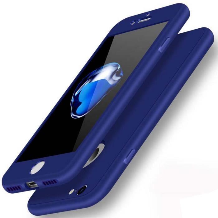 coque pour iphone 7 8 en silicone bleu nuit 360deg