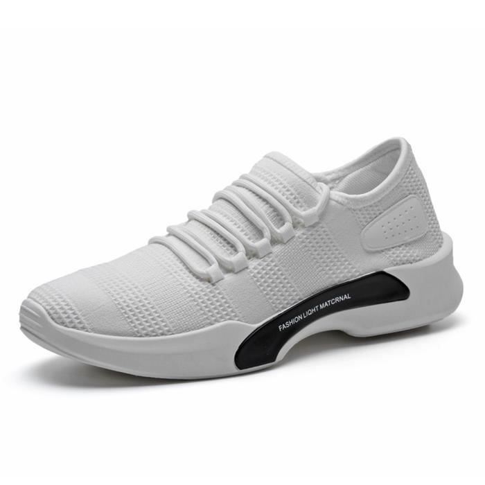 Basket Homme Ultra Comfortable Occasionnelles Chaussure BDG-XZ011Blanc-39 bLCB0PW