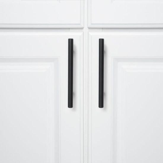 tiroir finition mate porte 10, 64 mm Poign/ée de porte en T molet/é noir moderne pour placard de cuisine armoire