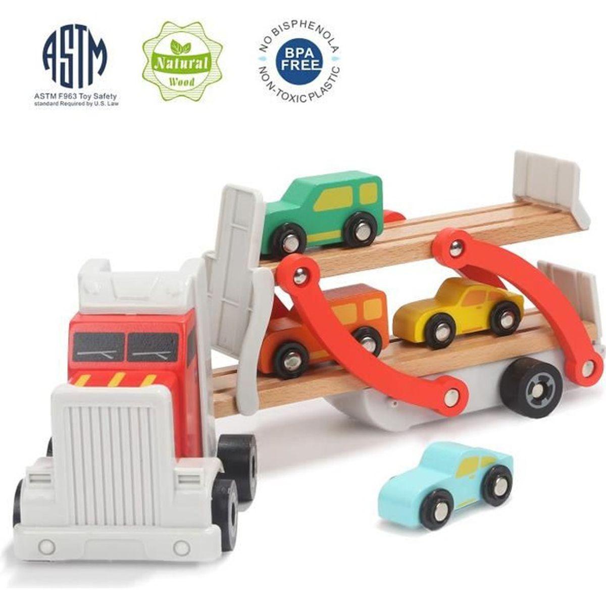 TABLE JOUET D'ACTIVITÉ Jouet Camion Enfant en Bois, Jouet Camion Transpor