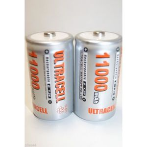 x5 Pile LR20 R20 D Rechargeable 1.2V Ni-Mh Ultracell 13000mAh