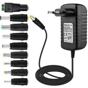 CHARGEUR - ADAPTATEUR  EFISH Adaptateur Secteur Portable Portable 12V 2A