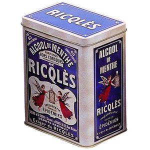 BOITE DE RANGEMENT BOITE METAL 12X8X15cm PUB ALCOOL DE MENTHE RICQLES