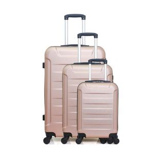SET DE VALISES SET DE 3 VALISES ELBE-A ROSE DORE
