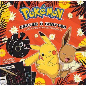 LIVRE LOISIRS CRÉATIFS Pokémon Cartes à gratter - PIKACHU ET ÉVOLI