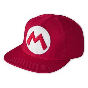 SUPER MARIO M Logo Rouge Brodée Casquette De Baseball Maille Camionneur Casquette Réglable