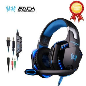 CASQUE - ÉCOUTEURS KOTION EACH Casque Gaming G2000 Gaming Headset Fil