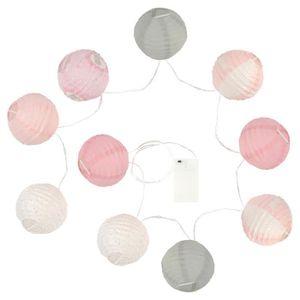RUBAN TRICOLORE Guirlande lumineuse 10 boules LED - Diamètre : 10