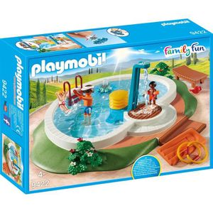 UNIVERS MINIATURE PLAYMOBIL 9422 - Family Fun - Piscine avec douche
