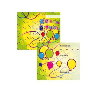FAIRE-PART - INVITATION Lot de 8 cartes d'invitation JOYEUX ANNIVERSAIRE