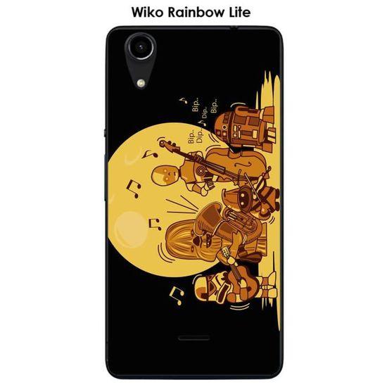 Coque Wiko Rainbow Lite design dark-zic
