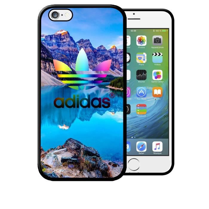 Coque iPhone 5 5s Adidas Paysage de Vacances Rêves de Soleil Mer été Logo Swag Neuf sous Blister