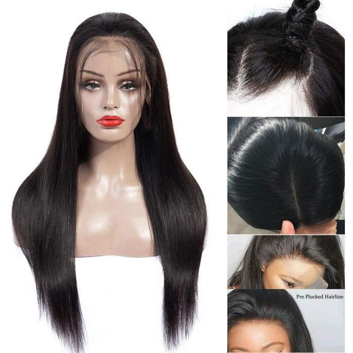Perruque Bresilienne Lace Frontal 360 Boucle Perruque Bresilienne Lace Frontal Lisse Couleur Naturelle Cheveux Humains Non Transform