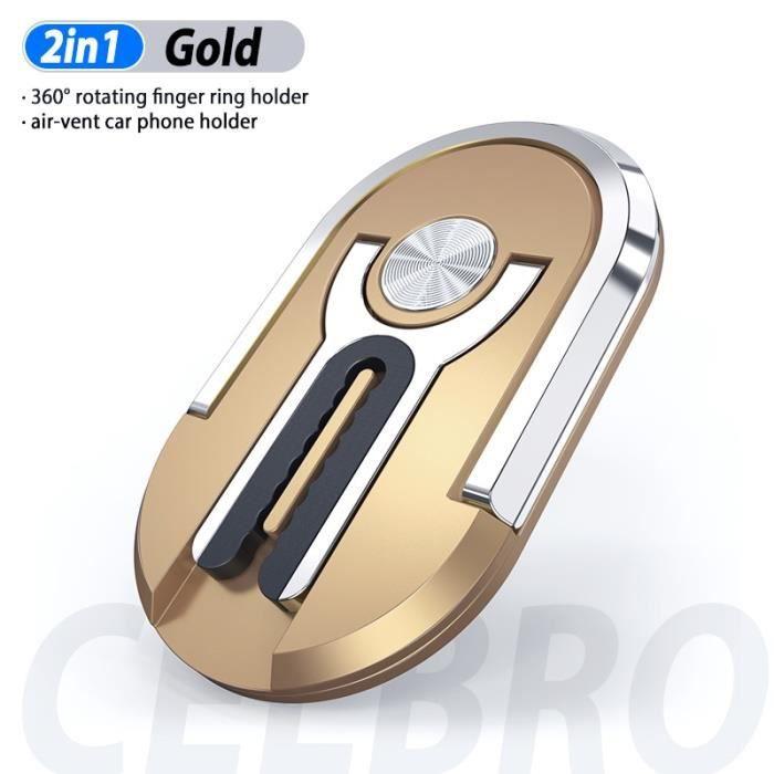 Mise à niveau bague pour téléphone support pour voiture support évent support de montage support Smartphone Auto pour - Type gold