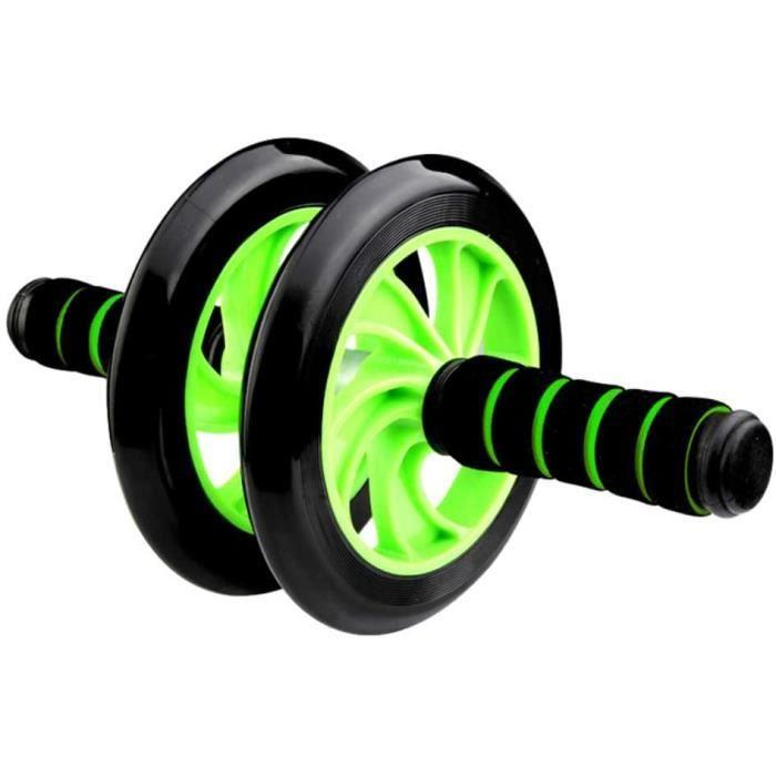 {Yokata} roue abdominale AB Roller, roue fitness, roue AB avec tapis pour les genoux, pour le fitness et l'entraînement des muscles