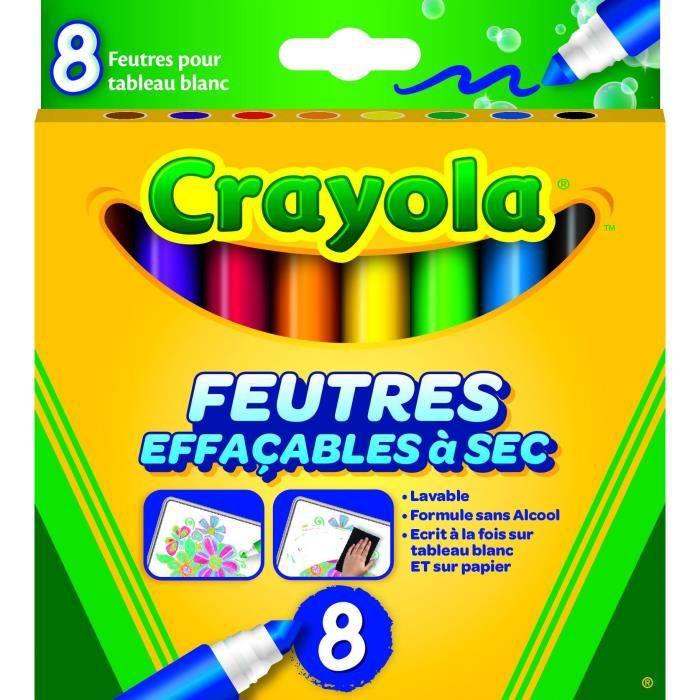 Crayola - 8 Feutres effaçables à sec - boîte française -