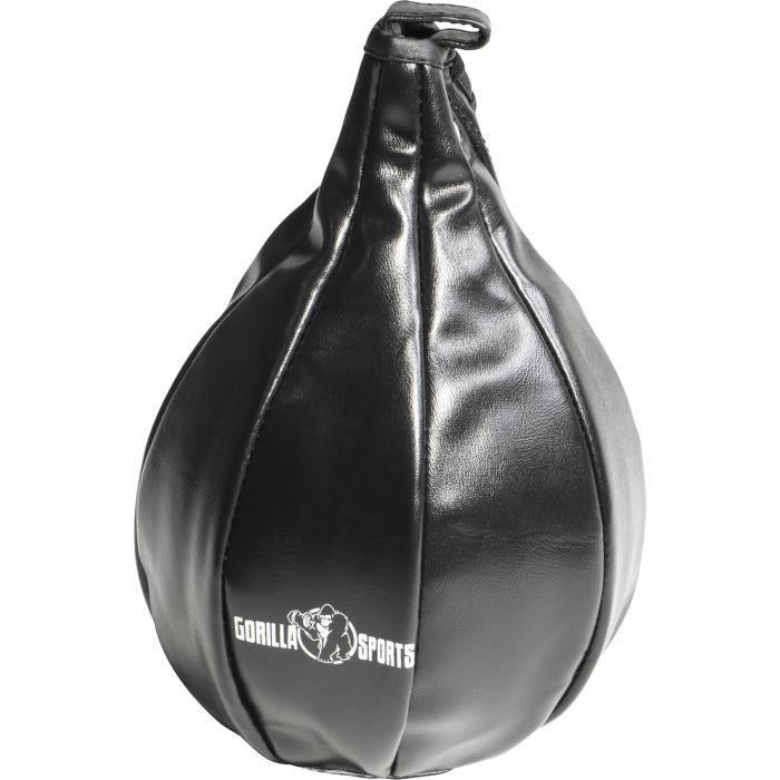 Punching Ball, Poire de Vitesse Gorilla Sports Noir