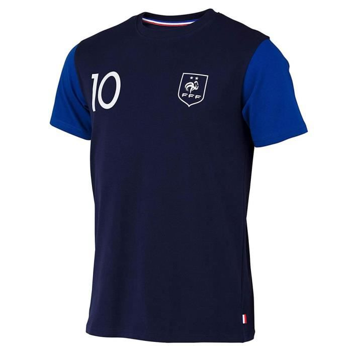 T-Shirt Équipe de France 'Kylian Mbappé' Officiel - Bleu