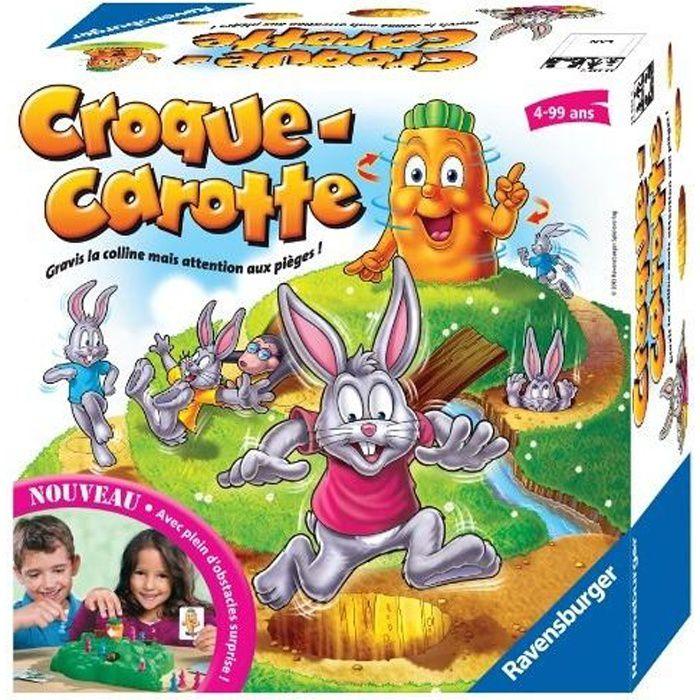 Croque Carotte - Ravensburger - Jeu de parcours enfant - 2 à 4 joueurs - Dès 4 ans