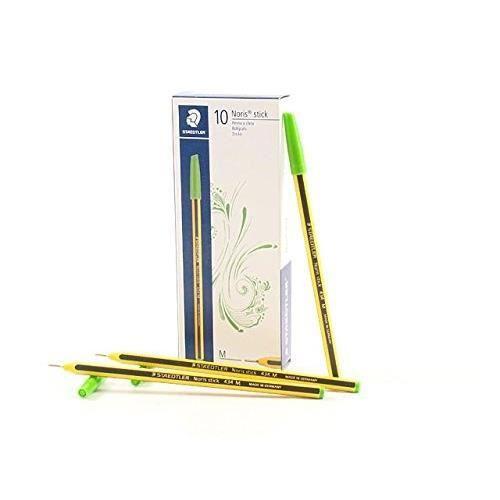 Staedtler Noris M Stick 434 51 - Stylo à bille - Vert clair - Conf.10 Pcs