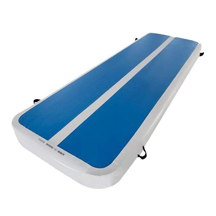 TD® Coussin gonflable de gymnastique Tapis de 10 cm épaisseur 3M+Pompe à air électrique pour gymnase/yoga/entraînement/fitness /Spor