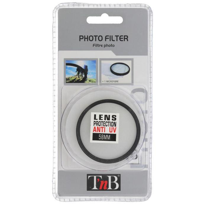 T'nB Filtre UV 58mm DCFUV58 - Pour appareil photo numérique Reflex