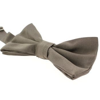 Noeud papillon soie italienne, Taupe