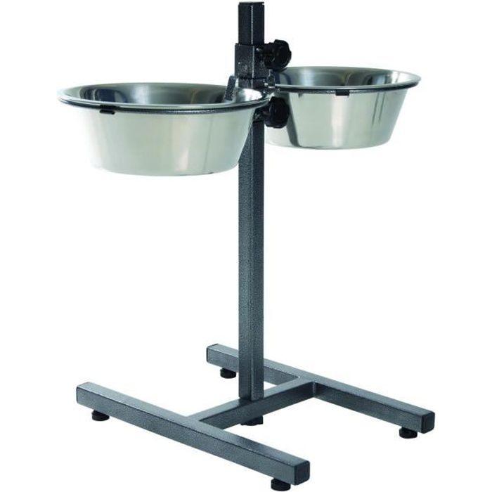 TRIXIE Support réglable de bol pour chiens 5,6 L 24 cm