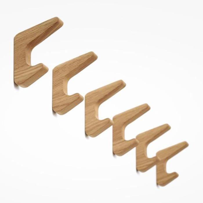 1 Set / 2pcs Crochets muraux en bois utiles drôles Chic pour la maison RACK DE RANGEMENT - RACK A EXERCICE - SUPPORT