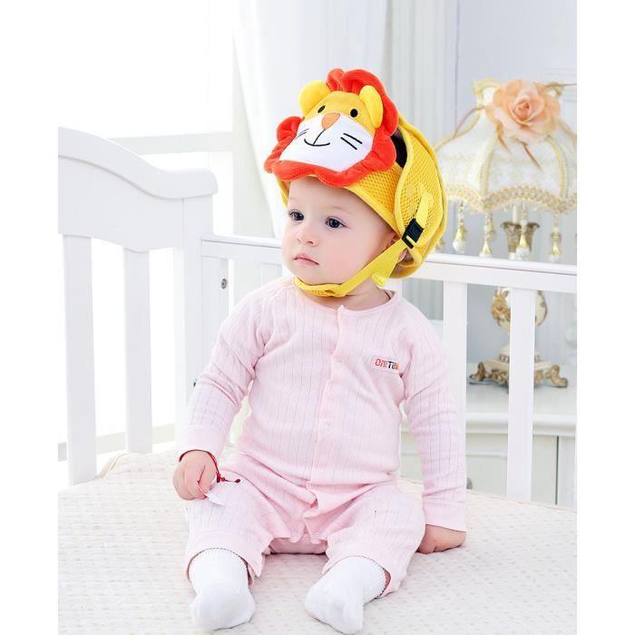 CASQUE ENFANT Lion-Casque Bébé Anti-Chute, Bonnet Bébé de Sécuri