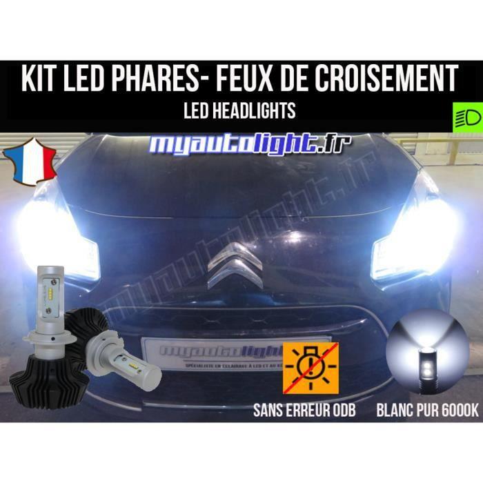 Pack ampoules H7 blanc xenon feux croisement-code pour C3 MyAutoLight