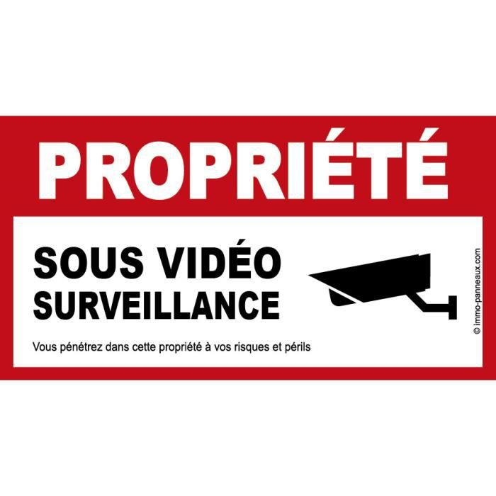 panneau sous video surveillance achat vente signal tique ext rieure panneau sous video. Black Bedroom Furniture Sets. Home Design Ideas