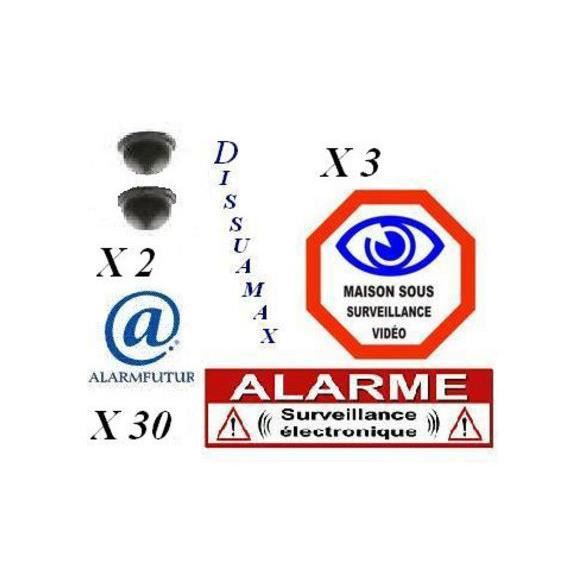 Pack alarme de dissuasion dissuamax medium achat vente for Alarme maison securite good deal