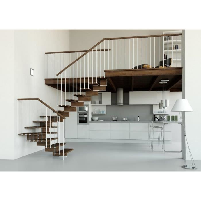 escalier 1 4 tournant limon central achat vente. Black Bedroom Furniture Sets. Home Design Ideas