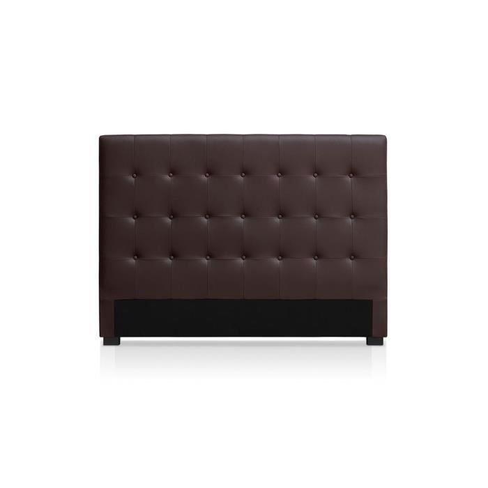t te de lit capitonn e 160 cm cuir pu somy marron achat. Black Bedroom Furniture Sets. Home Design Ideas