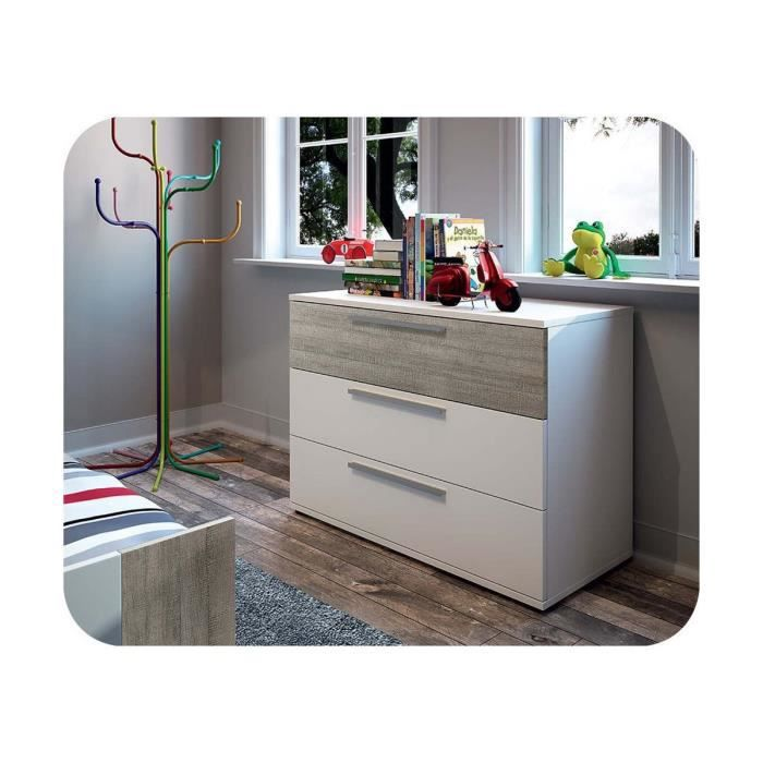 commode enfant jazz gris clair achat vente commode de chambre commode enfant jazz gris clair. Black Bedroom Furniture Sets. Home Design Ideas