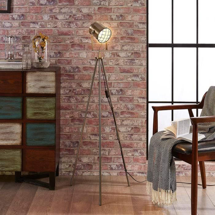 lampadaire style industriel achat vente lampadaire. Black Bedroom Furniture Sets. Home Design Ideas