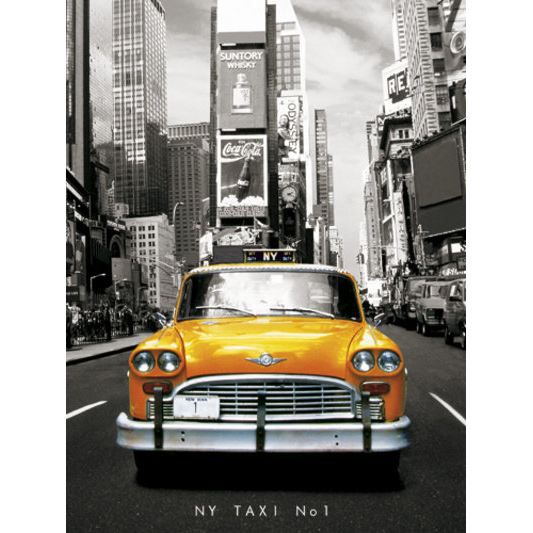 affiche taxi jaune new york mini 40 x 50cm achat vente affiche poster cdiscount. Black Bedroom Furniture Sets. Home Design Ideas