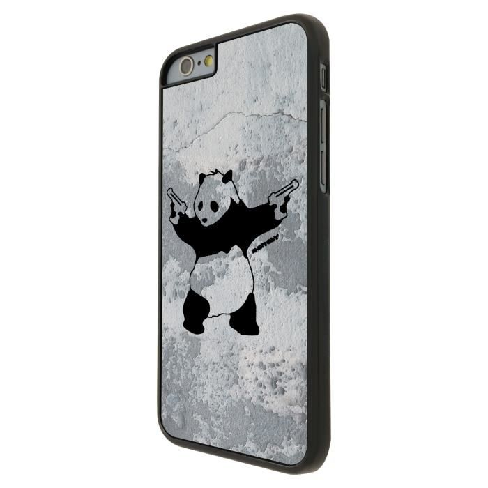 Banksy grafitti art wall shooting panda iphone 6 plus 5 5 - Espionner portable sans y avoir acces ...