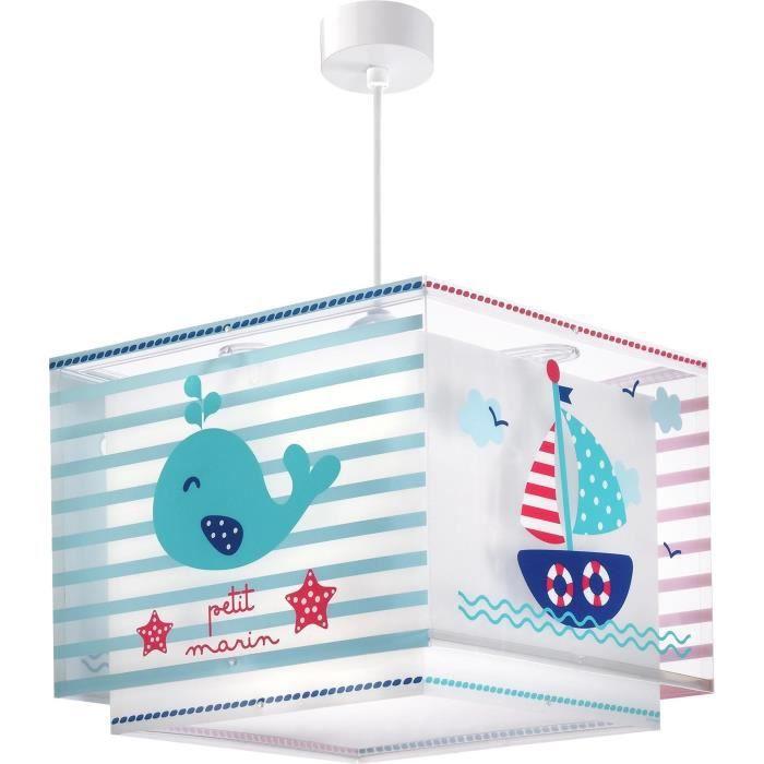 Lustre suspension chambre enfant Petit Marin - Bleu