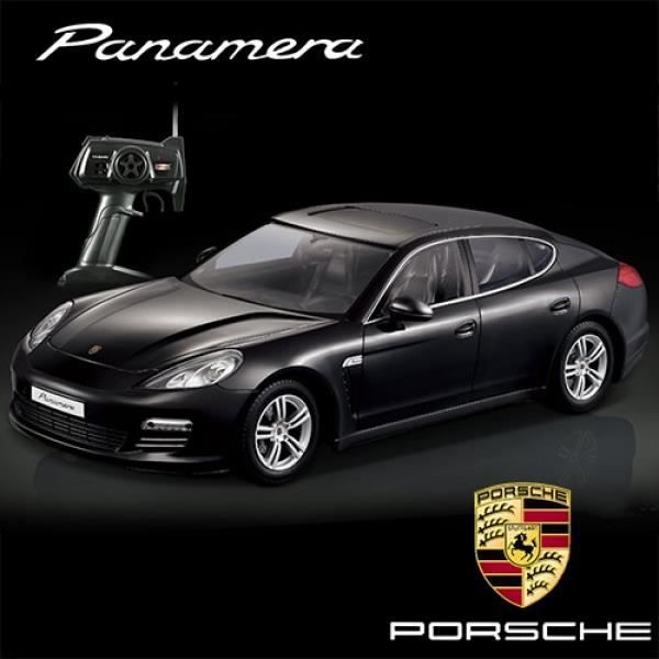 voiture t l command e porsche panamera noir achat vente voiture camion cadeaux de no l. Black Bedroom Furniture Sets. Home Design Ideas