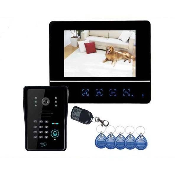 interphone vid o multi code rfid t l commande achat vente interphone visiophone cdiscount. Black Bedroom Furniture Sets. Home Design Ideas