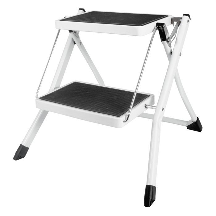 tabouret marche pied cogex 2 niveaux noir blanc achat vente marchepied cdiscount. Black Bedroom Furniture Sets. Home Design Ideas