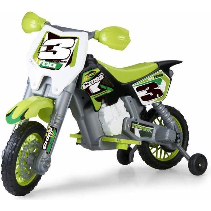 MOTO - SCOOTER FEBER - Rider Cross 6V Moto Electrique - verte -80